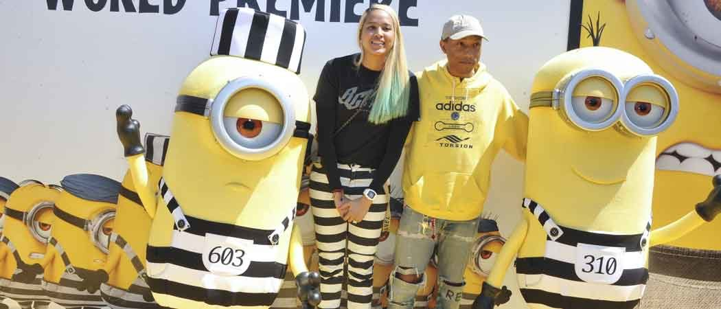 Pharrell Williams Attends 'Despicable Me 3' L.A. Premiere With Wife Helen Lasichanh