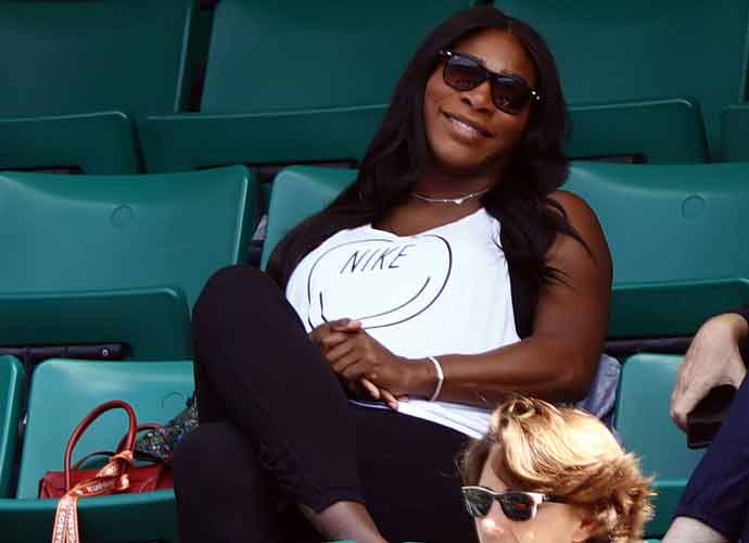Pregnant Serena Williams Attends French Open