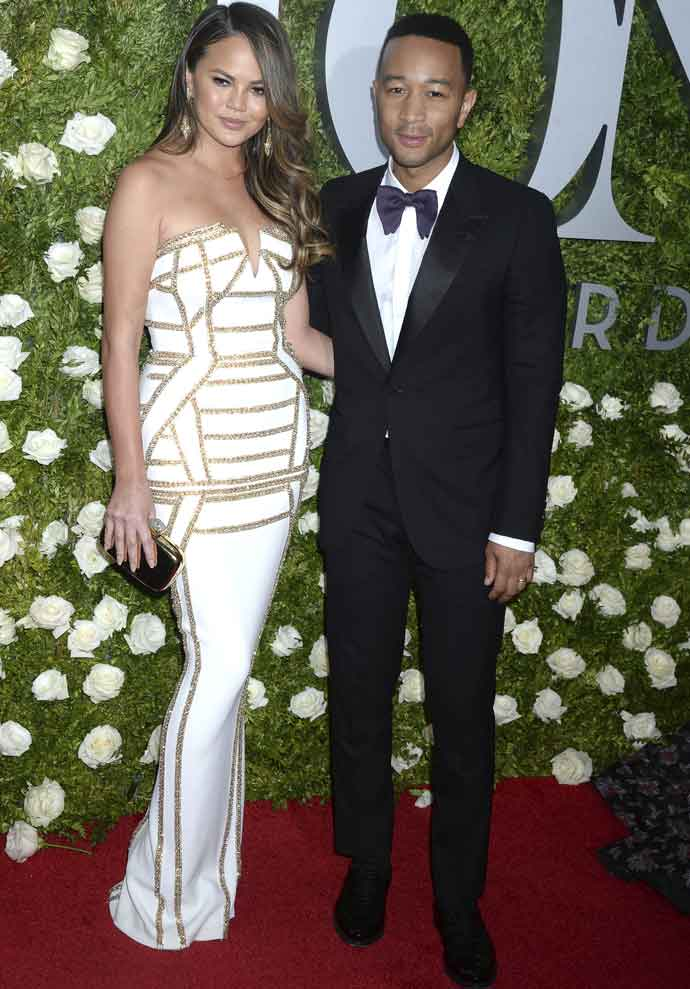 Chrissy Teigen & John Legend Look Smashing At The Tony Awards
