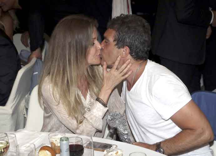 Antonio Banderas & Nicole Kimpel Kiss At The Ischia Global Film & Music Fest