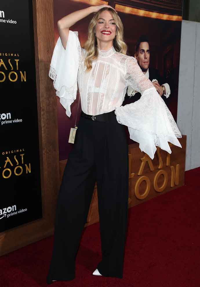 Jaime King Attends 'The Last Tycoon' Premiere In Translucent Blouse
