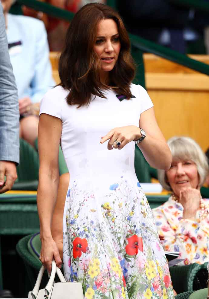Get The Look: Kate Middleton's Catherine Walker & Co Floral Dress At Wimbledon Final