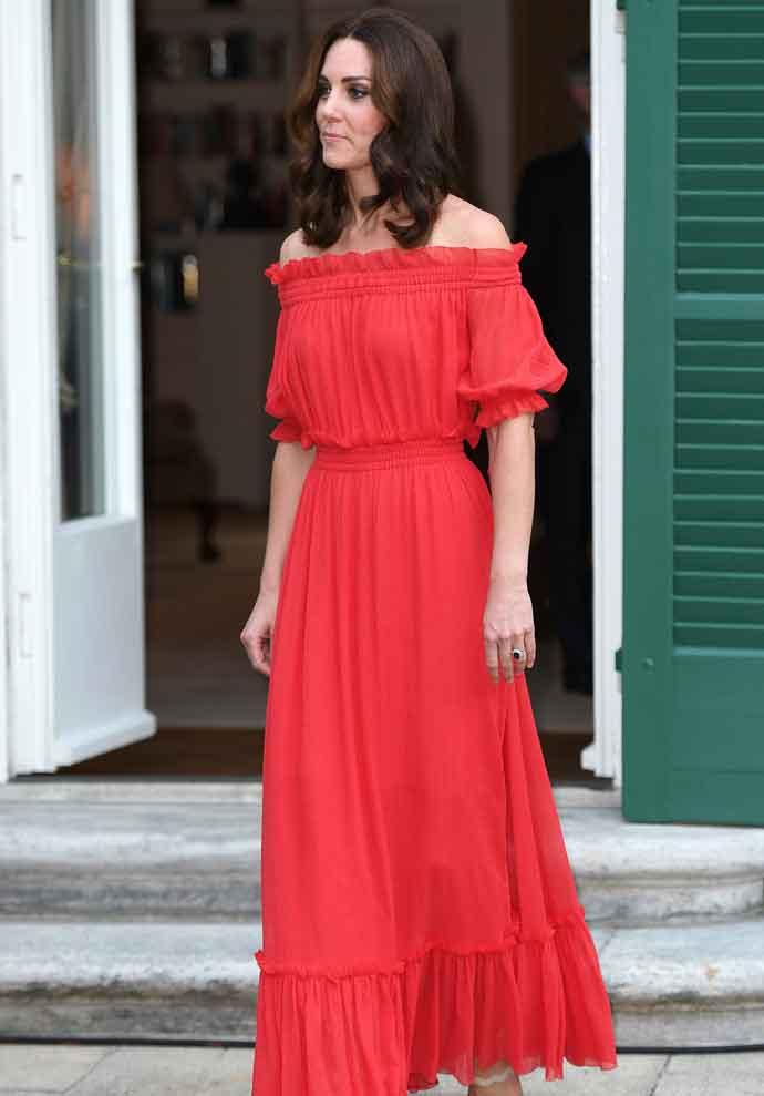 Kate Middleton Wears Alexander McQueen Dress To British Ambassador's Party