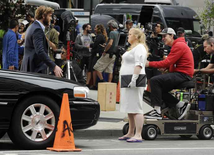 Liam Hemsworth & Rebel Wilson Film 'Isn't It Romantic' In New York City