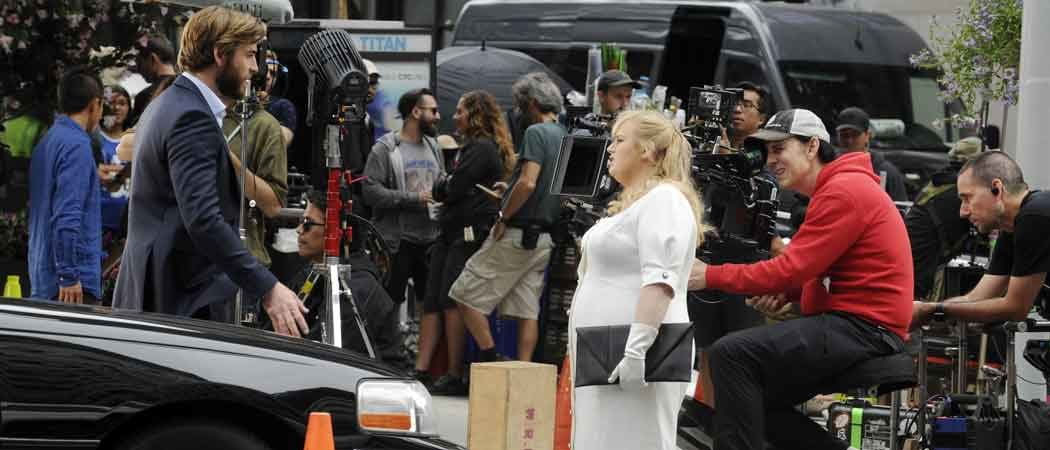 Liam Hemsworth & Rebel Wilson Film 'Isn't It Romantic' In New York City