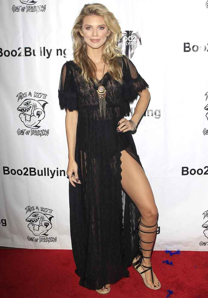 AnnaLynne McCord Wears Lacy Dress To 'Take A Bite Out Of Bullying' Event