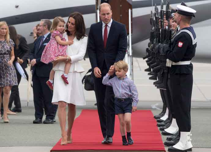 Duke & Duchess Of Cambridge Arrive In Poland With Prince George & Princess Charlotte