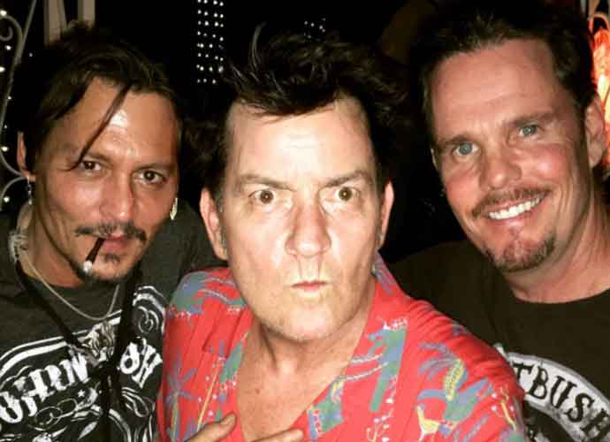 Johnny Depp, Charlie Sheen & Kevin Dillon Have 'Platoon' Reunion [PHOTOS]