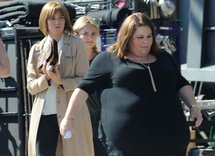 Mandy Moore & Chrissy Metz Film On Set For 'This Is Us' Season Two [PHOTOS]