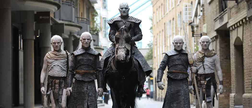 The Night King & White Walkers March In London To Promote 'Game Of Thrones' Season 7