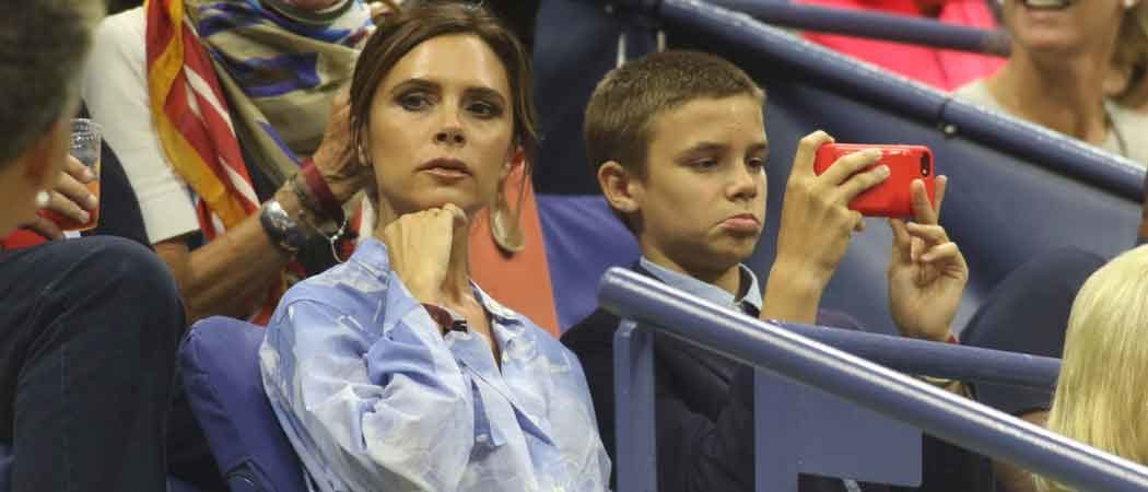 Victoria & Romeo Beckham Attend Day 2 Of The U.S. Open