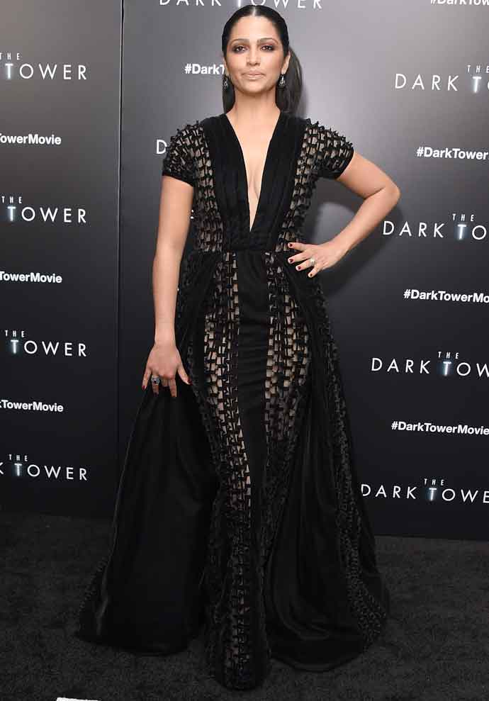 Camila Alves Attends 'The Dark Tower' Premiere With Husband Matthew McConaughey