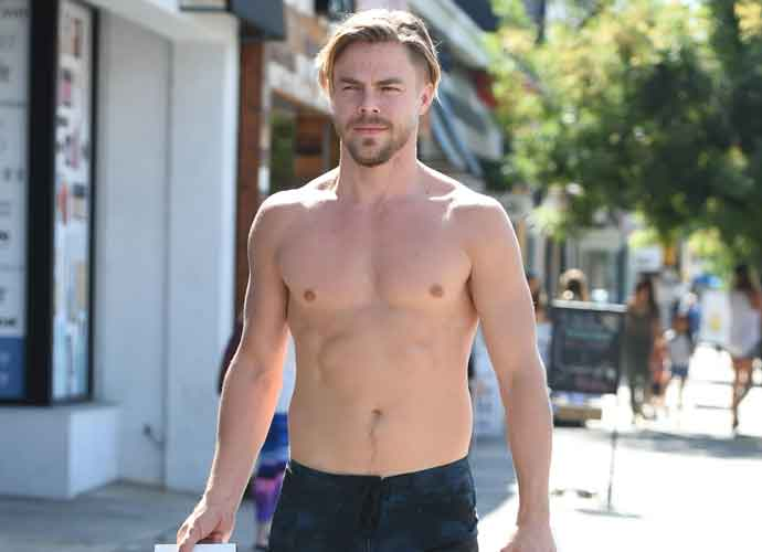 Derek Hough Shops Shirtless On Ventura Boulevard