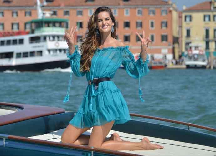 Izabel Goulart Is A Vision In Blue At Venice Film Festival