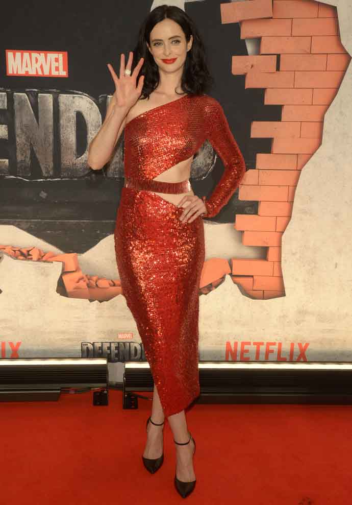 Krysten Ritter Wears Julien Macdonald To 'The Defenders' Premiere