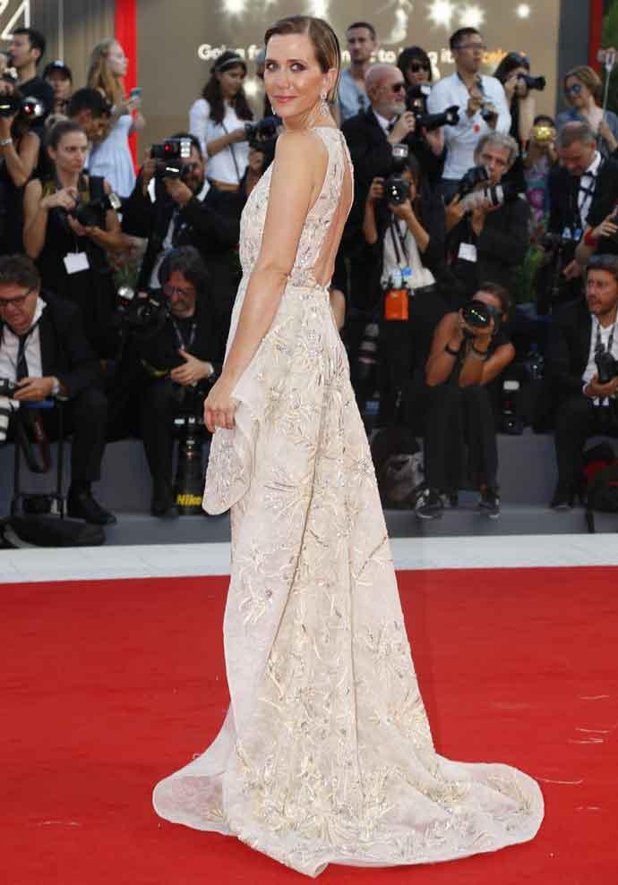 Kristen Wiig Sparkles In Zuhair Murad Couture At 74th Venice Film Festival