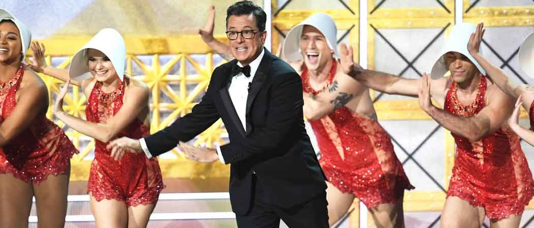 Colbert Delivers Musical Emmy Monologue Full Of Donald Trump Jokes