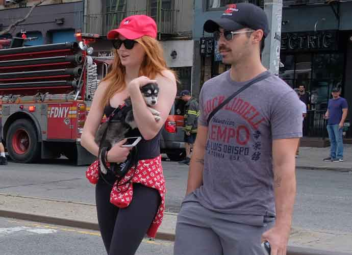 Joe Jonas & Sophie Turner Spotted Walking Their Dog In New York City