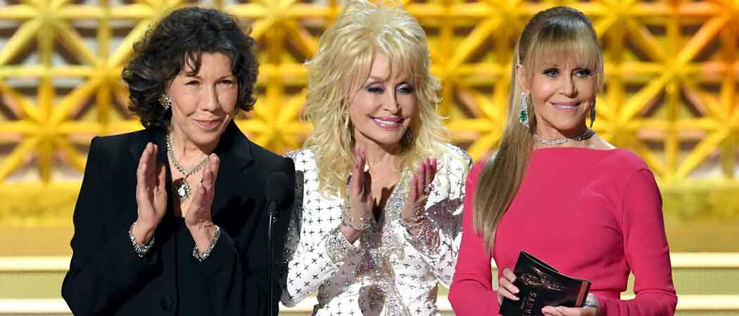 Jane Fonda, Lily Tomlin, Dolly Parton Of '9 To 5' Reunite At Emmys
