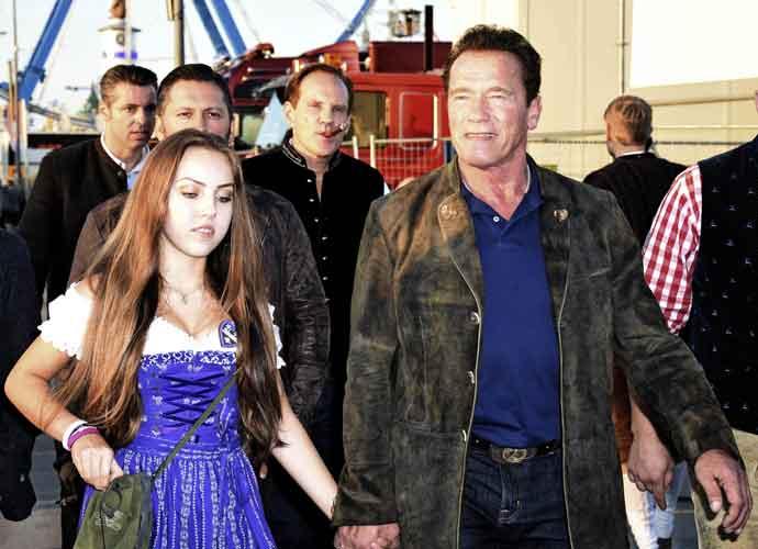 Arnold Schwarzenegger Holds Hands With Stella Glaubitz At Oktoberfest 2017