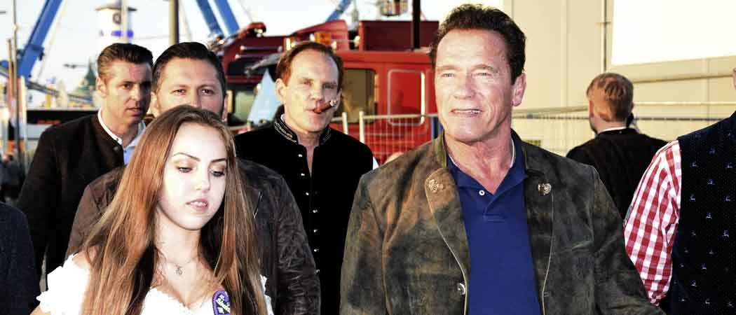 Arnold Schwarzenegger Holds Hands With Stella Glaubitz At Oktoberfest 2017
