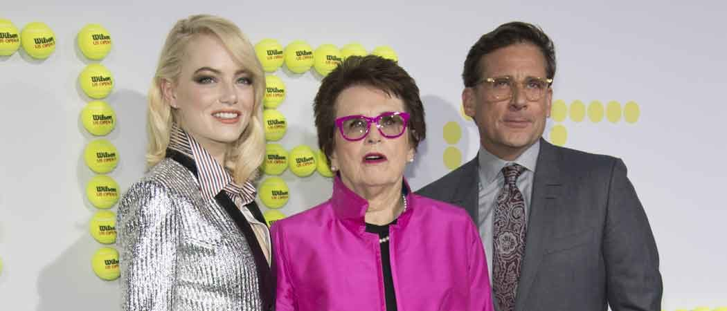 Billie Jean King Joins Emma Stone, Steve Carell At 'Battle Of The Sexes' Premiere