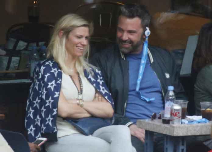 Ben Affleck & Lindsay Shookus Watch U.S. Open Men's Final Match [PHOTOS]