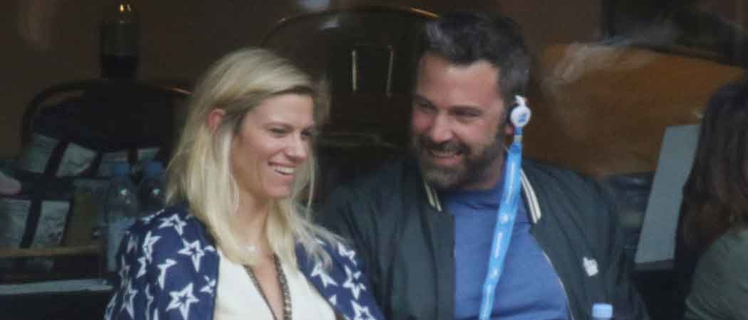 Ben Affleck & Lindsay Shookus Watch U.S. Open Men's Final Match [PHOTOS]