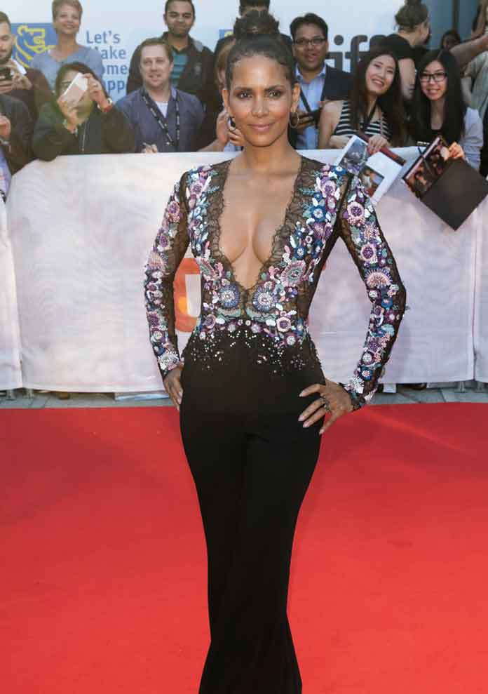 Halle Berry Stuns In Zuhair Murad Jumpsuit At 'Kings' Premiere