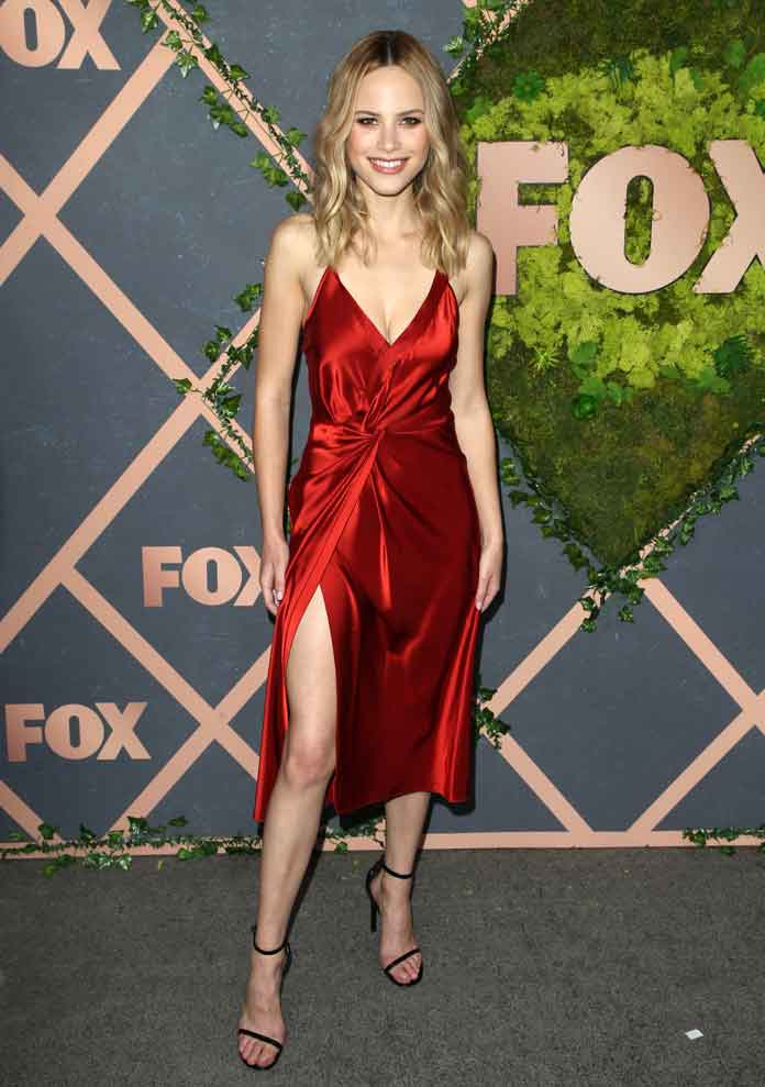 Halston Sage, 'The Orville' Star, Rocks In Red Alexander Wang Dress At The Fox Fall Premiere Party