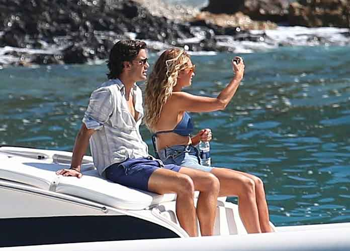 Jeremy Irvine & Lily James Relax During Takes Of 'Mamma Mia 2' In Croatia
