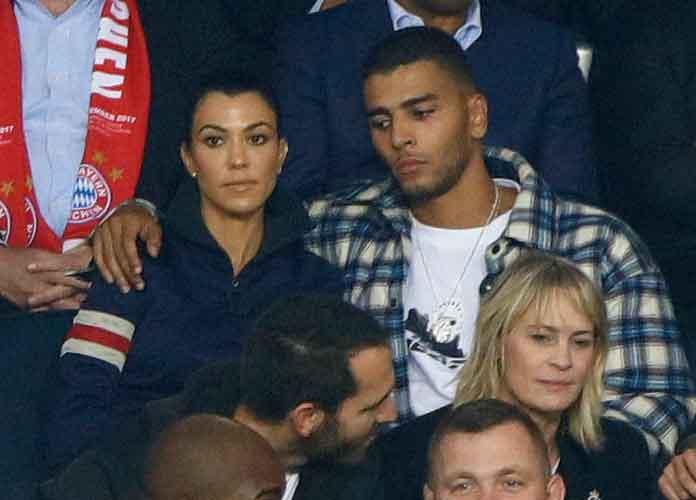 Kourtney Kardashian & Younes Bendjima Cozy Up To Watch UEFA Champions League In Paris