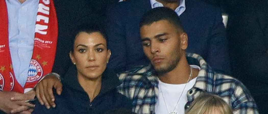 Kourtney Kardashian & Younes Bendjima Cozy Up To Watch UEFA Champions League In Paris