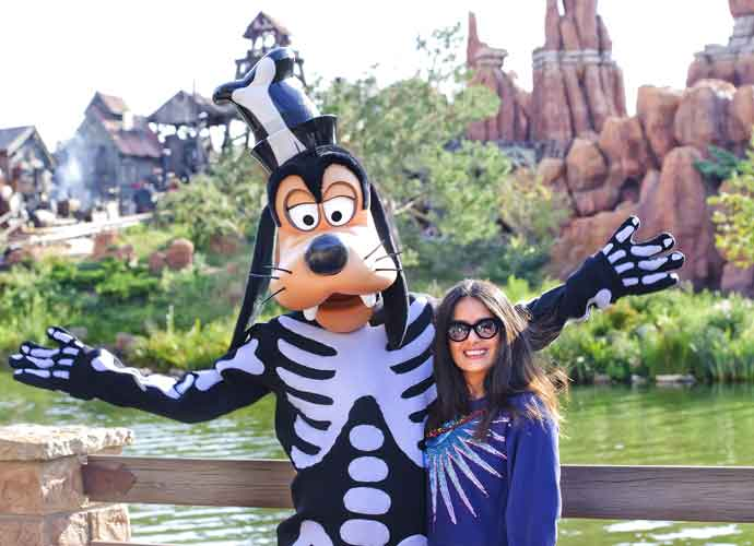 Salma Hayek Celebrates Halloween Early At Disneyland Paris