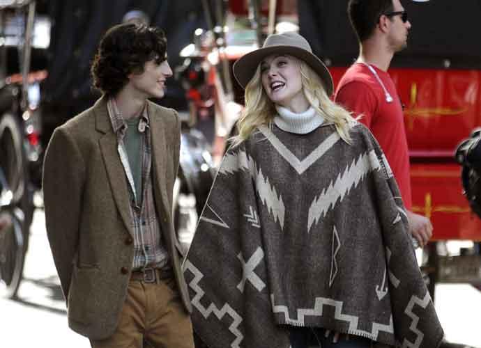 Elle Fanning & Timothée Chalamet Shoot Woody Allen Project Film In New York City