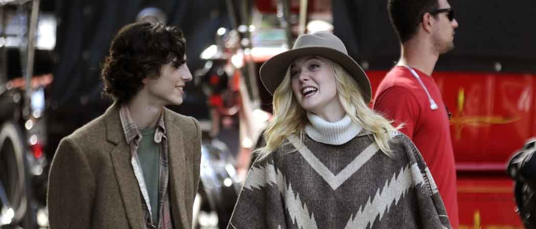 Elle Fanning & Timothée Chalamet Shoot Woody Allen Project Film In New York City