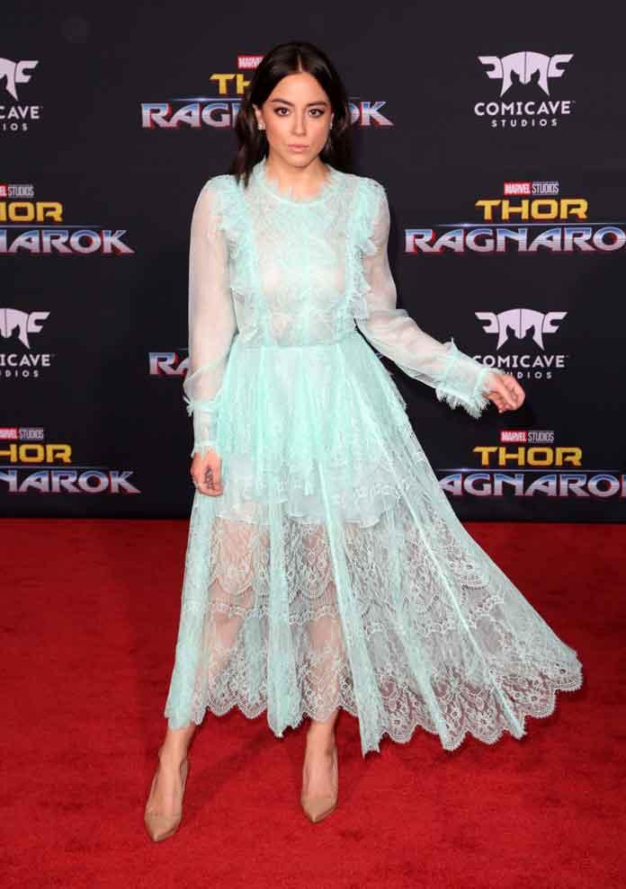 Chloe Bennet Attends 'Thor: Ragnarok' Premiere