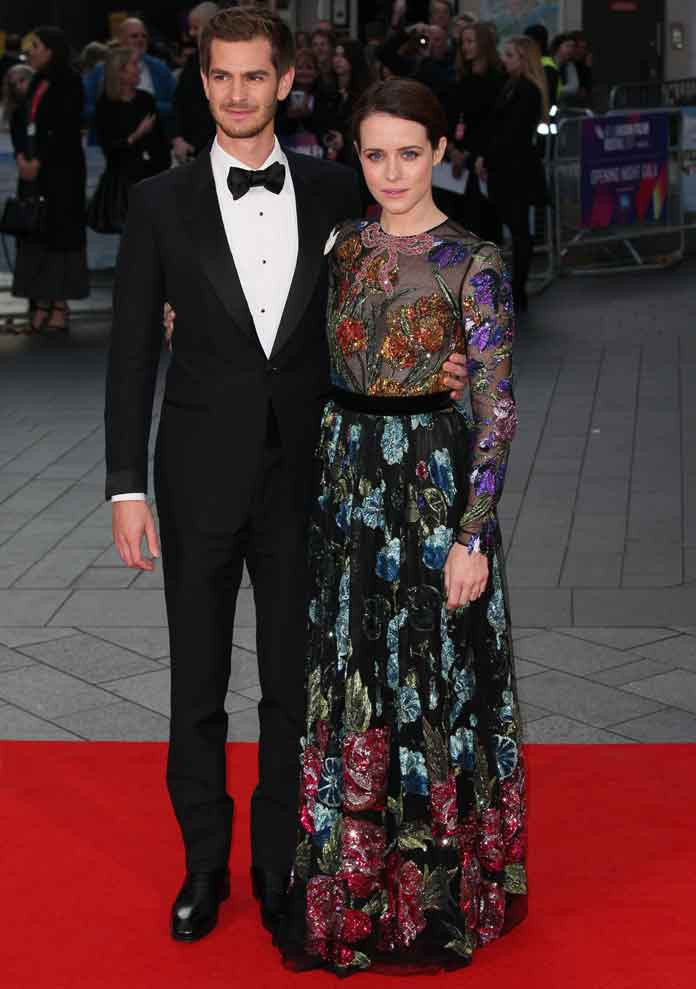 Claire Foy & Andrew Garfield Look Smashing At 'Breathe' Premiere In London