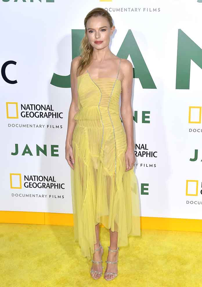 Kate Bosworth Chic In Yellow Preen by Thornton Bregazzi Dress At 'Jane' Premiere