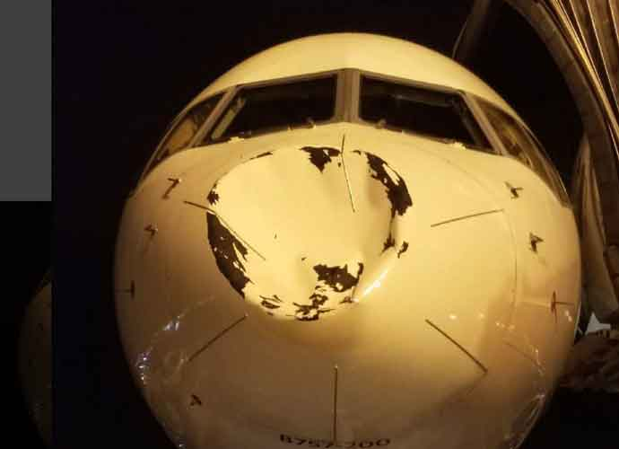 Nose Of Oklahoma City Thunder's Plane Severely Damaged By Possible Bird Strike