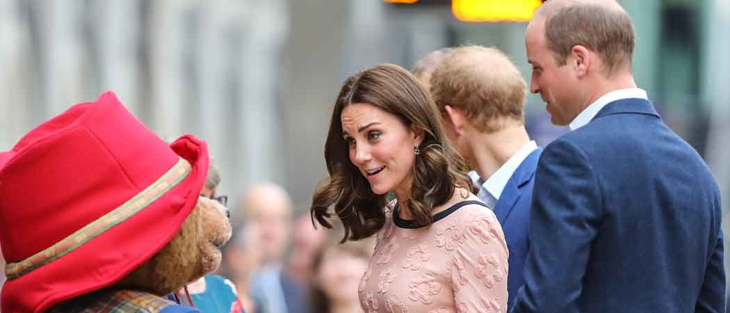 Prince William, Princess Kate & Prince Harry Meet Cast Of 'Paddington 2' At Charity Event