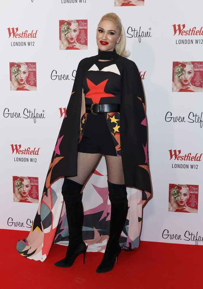 Gwen Stefani Hosts Westfield London's Christmas Tree Lighting