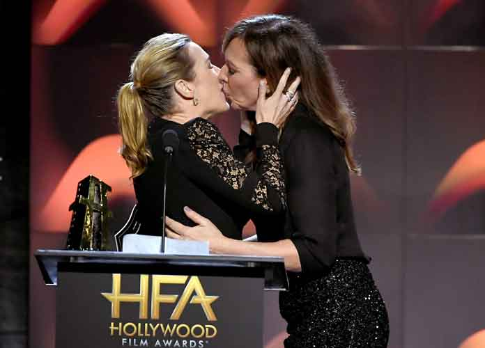 Kate Winslet Fangirls Over Allison Janney, & They Share A Surprise Kiss On The Lips