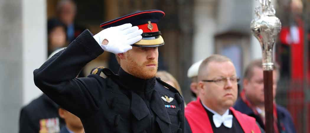 Prince Harry Salutes Fallen Service Members At Westminster Abbey Field Of Remembrance