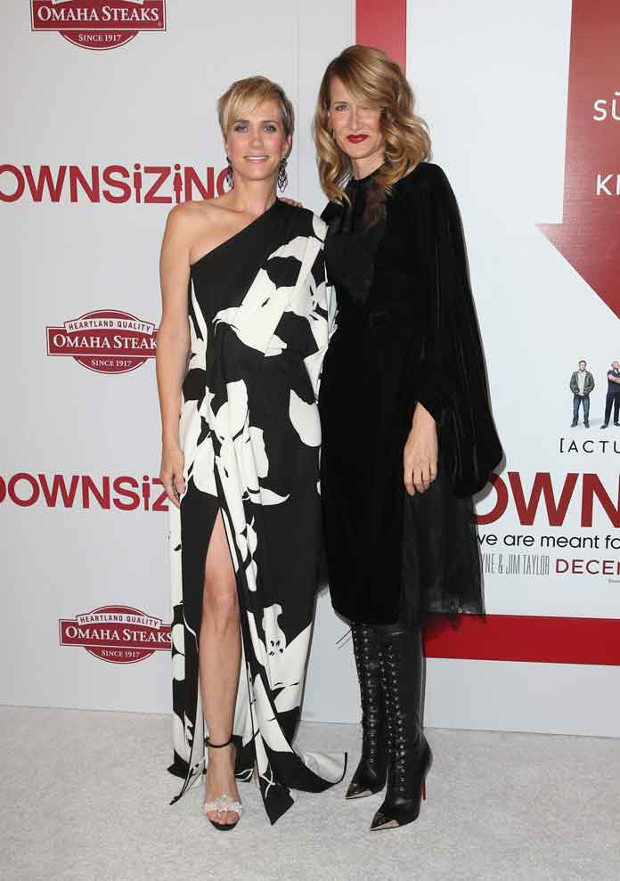 Kristen Wiig & Laura Dern Attend Red Carpet Premiere Of 'Downsizing,' Which Matt Damon Skips