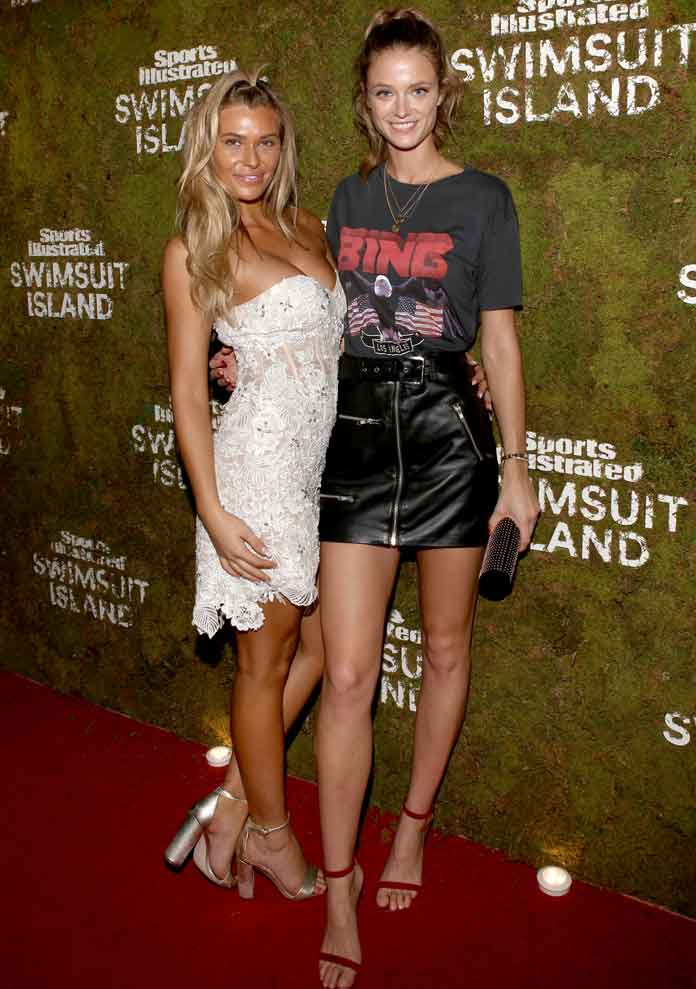 Samantha Hoopes & Kate Bock Attend 'Sports Illustrated' Bungalow Party