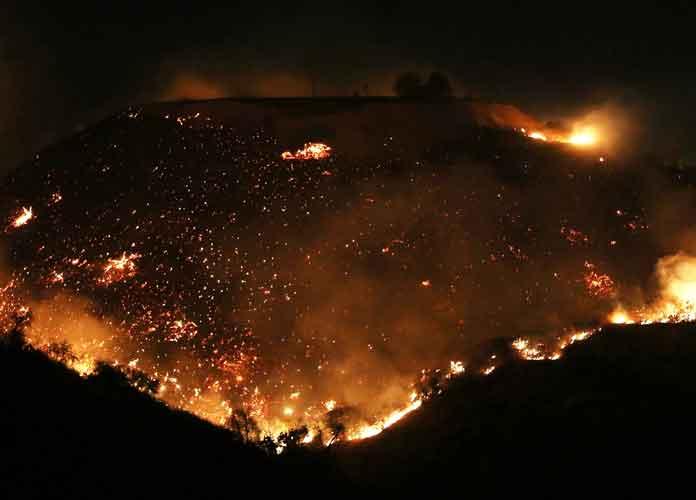 California Wildfires Cause Celebrities To Evacuate Homes