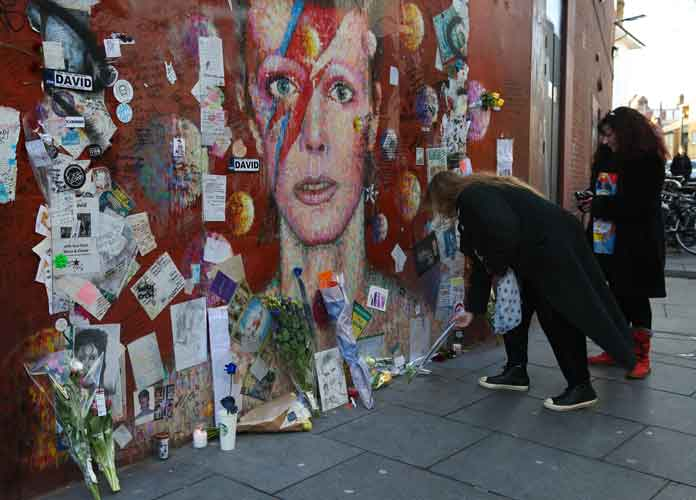 David Bowie Fans Visit Memorial In South London On Second Anniversary Of Singer's Death