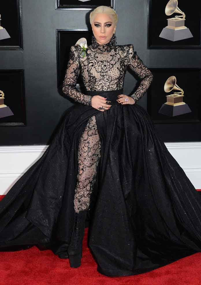 Lady Gaga's Armani Privé Dress Also Doubles As A Bodysuit