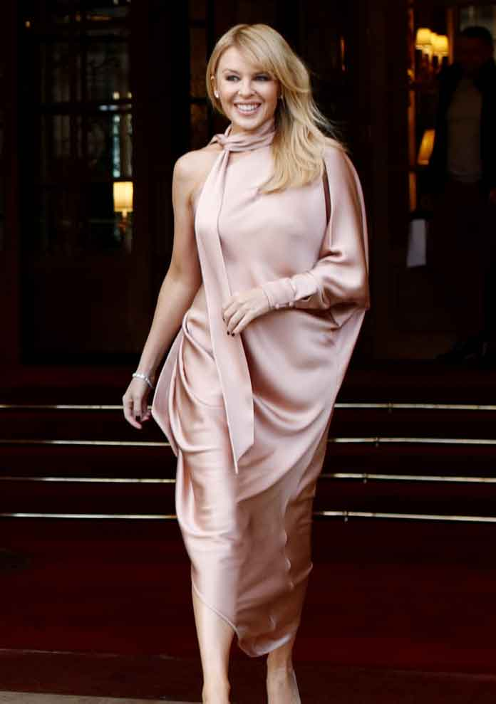 Kylie Minogue Wears Ralph & Russo To Fashion Show